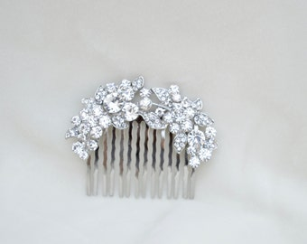 Bridal Rhinestone Hair Comb / Bridal Hair Comb / Wedding Hair Comb / Bridesmaid Hair Comb / Vintage Inspired Hair Comb