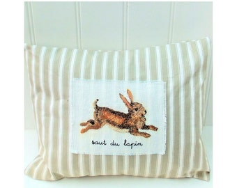 Leaping Rabbit Cushion pattern instant download pdf file