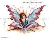 Artists Assistant Muse Fairy 8.5x11  PRINT by Amy Brown