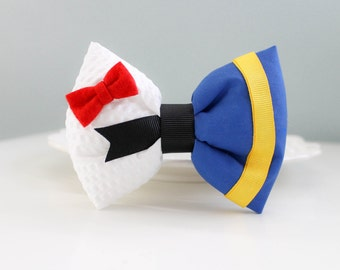 Donald Duck Bow; Donald Duck Clip; Walt Disney Hair Accessory; Handmade Inspired Bow; Donald Duck; Donald Hair Bow; Disney Inspired Bow
