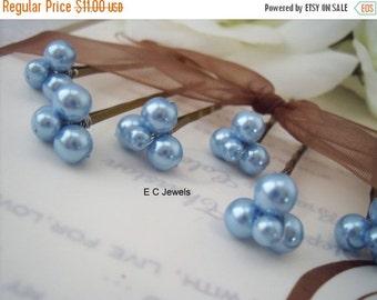 Baby Blue Bridal Hairpins