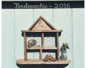 Wall Shelf - Rustic Decor - Shelf Decor - Beach Decor - Shadow Box - Reclaimed Wood - Farmhouse Decor - CHIC