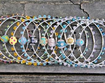 Boho Chic Crystal Bangle Bracelet