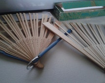 Fans - Wood Ribs - Scrolled, with Boxes - Craft Supplies