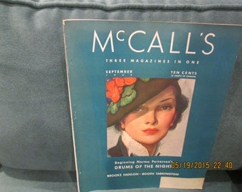 Mc Call's Magazine September 1935 monthly McCall Publishing Co., NY good condition