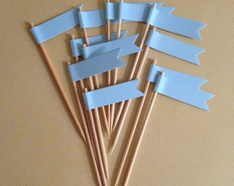 Blue Cupcake Toppers - Baby Shower