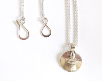 Sterling UU necklace, Unitarian jewelry, chalice accessory, flaming chalice, uni bling, Universalist symbol