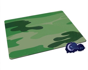 Green Camoflage - Tempered Glass Bar & Kitchen Cutting Board
