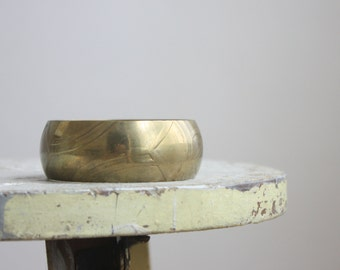 modernist brass cuff