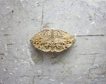 vintage filigree barrette