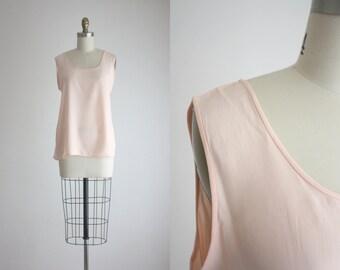 blush pink silk tank