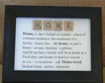 Home Picture Frame / The Meaning of Home