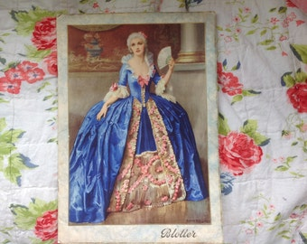 Vintage 1940 Crinoline Lady Blotter Calendar