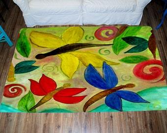 Dragonflies Art Area Rug