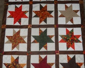 Autumn  - quilt top     **new**   (44 x 56)