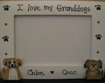 i love my granddogs frame personalized custom picture frame