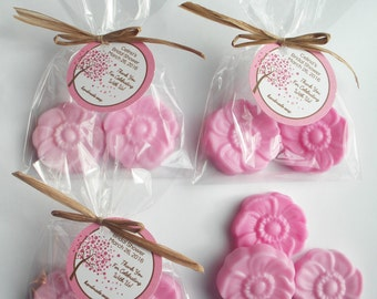 Cherry Blossom Bridal Shower Favors Washington DC Wedding Favors  (20 Complete Favors with tags-40 Soaps)