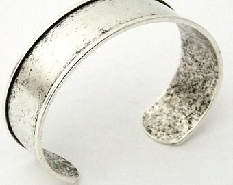 Antique Silver Plated Cuff 3/4 Inch Wide Ready For Crafting Or Wear