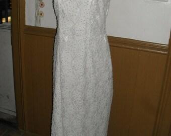 David's Bridal - St. Tropez - Pearl Beaded Wedding Gown  - sz 14 - New Low Price