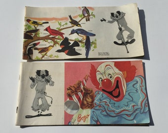 Vintage Book Bozo the Clown Read Along Books 1949