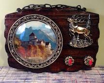 Vintage Key Hooks - Liechtenstein - Decorative Souvenir - Kitsch Homeware