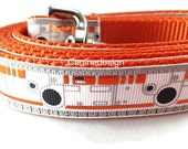 Star Wars Dog Leash, BB8 Droid, 1 inch wide, 1 foot, 4 foot, or 6 foot