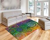 """Modern Art Plush Fuzzy Rug- Size 48x30, 60x48, 96x44, 96x60"""""""