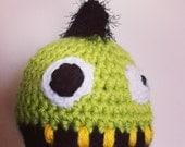 Monster Mohawk hat - crochet pattern - pdf