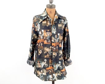vintage RARE 70s KENNINGTON mickey art DISCO shirt