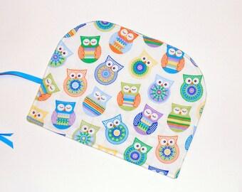 DPN Crochet Hook Organizer  Granny Square Owls DPN Storage Case Pencil case  gift for knitter artist hooker crocheter