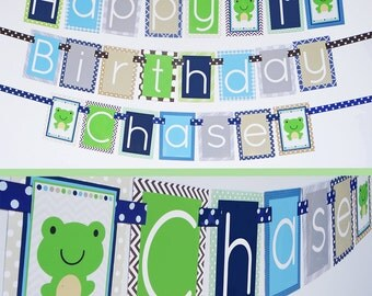 Frog Birthday Party Banner Fully Assembled | Frog Party | Frog Birthday Party | Boy Frog Birthday Party Decorations | Frog Themed Party