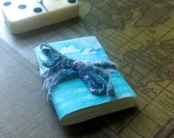 Tiny Painted Journal- seascape, ocean, sketchbook