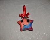 Tie Dye Awkward Star Ornament