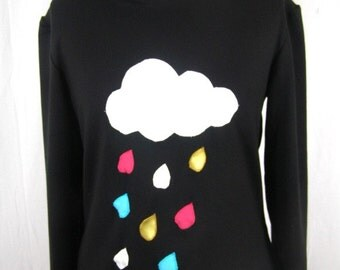 Sweat Sadako multicolored cloud and rain