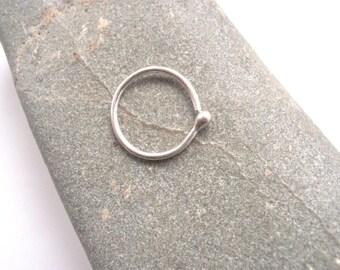 11mm 18 gauge Septum Cartilage Ring Sterling Silver