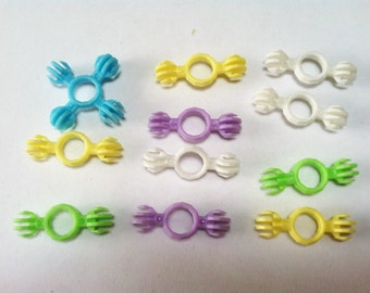 11 Small Bird Toy Parts Small Bird Foot Toys Groovy Plastic Links
