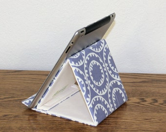 iPad Stand, Padded Tablet Stand, Gadget Support, Eight Fabric Choices!  Tech Support Triangle, MADE TO ORDER