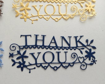 Frilly Thank You Die Cut - Pkg of 2