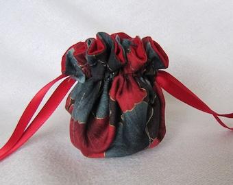 Jewelry Bag - Mini Size - Travel Jewelry Pouch - Drawstring Tote - POPPY SEED POPPERS