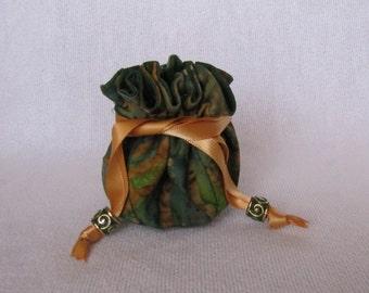 Drawstring Pouch - Mini Size - Fabric Jewelry Bag - Travel Drawstring Tote - SWAMP RAT