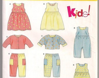 Infants Dress Pattern, Sleeveless Romper, Jacket and Pants, New Look 6175, Baby Clothes Pattern, Infant Wear, NB - LG, 7- 24 lbs, Uncut