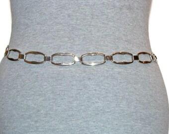 Vintage Silver Chain Belt Silver Chain Belts For Women Metal Belts For Women Silver Belts For Women Womens Metal Belt Vintage Womens Belt