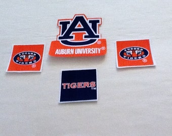 Auburn University  Tigers Fabric Iron on Patch Set