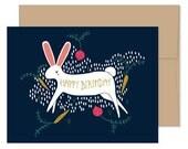 Rabbit Birthday Cards, Blank Rabbit Cards, Rabbit Celebration, Bunny Happy Birthday, Bunny Greeting Cards, Rabbit Stationery