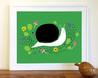 Enchanted Snail Art Print