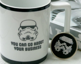embroidered star wars stormtrooper brooch pin