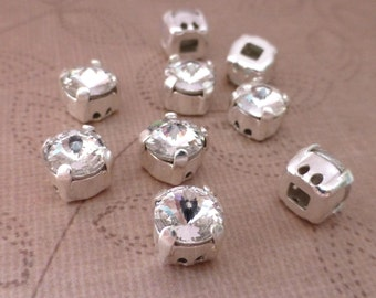 free UK postage 10 pcs Claw setting Sew on rhinestone faceted cabochons AAA quality