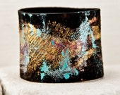 TRENDS 2016 Leather Cuffs Jewelry Bracelets Wristbands Wrist Cuff Black Leather - Hand Painted Valentine's Day Gift
