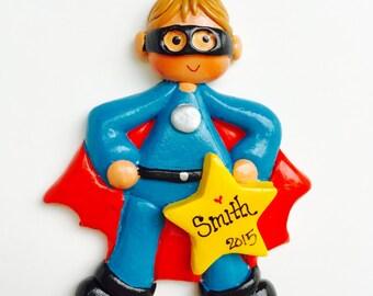 Personalized Super Hero (boy) Ornament