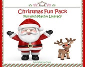 Printable Christmas Math and Literacy Fun Pack for Kids -Great for classrooms, homeschoolers, and busy moms